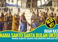 Nama Santo dan Santa Pelindung Gereja Katolik Bulan Oktober