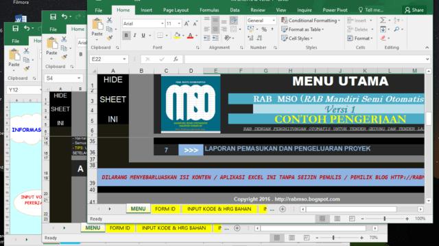 Download 3 Aplikasi Program Software RAB Semi Otomatis