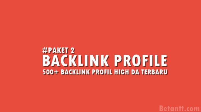 500+ Backlink Profil Dofollow High DA Terbaru