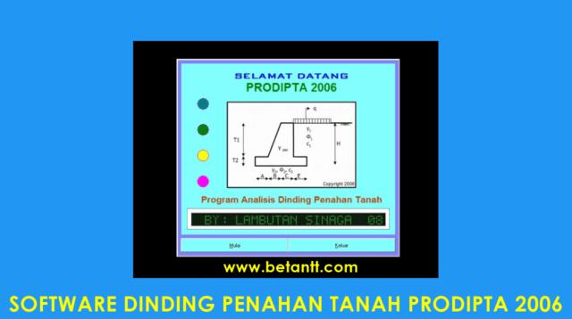 Download Aplikasi Dinding Penahan Tanah PRODIPTA 2006